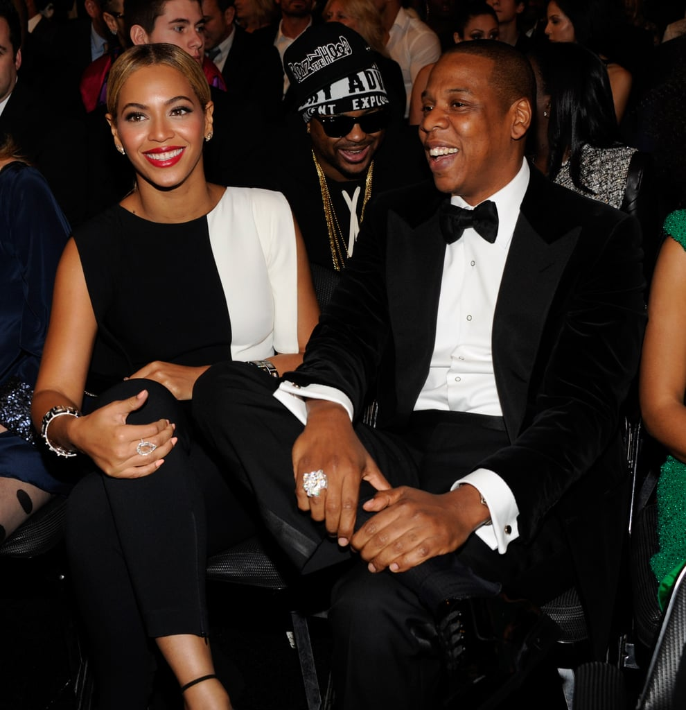 Beyoncé and Jay-Z laughed it up during the show.
