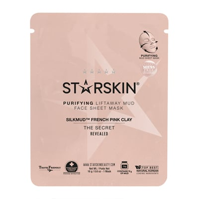 Starkin Silkmud Pink French Clay Sheet Face Mask ($17)