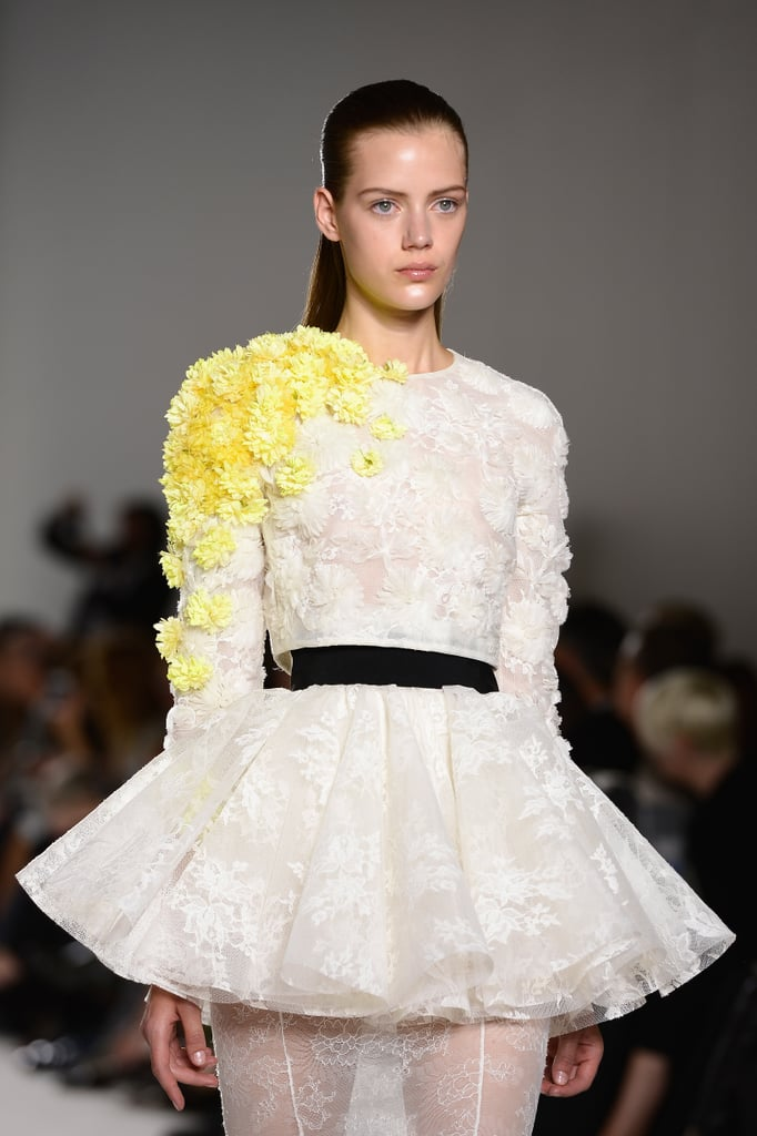 The three-dimensional blooms spotted at the Giambattista Valli Haute Couture Fall 2013 runway look like they'd emit a sweet fragrance.
