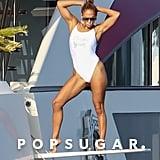 """Jennifer Lopez Wears """"Forever Young"""" Swimsuit in St.-Tropez"""