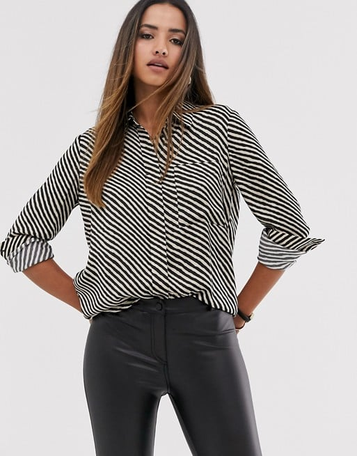 Mango Stripe Printed Shirt