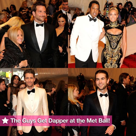 The Guys Get Dapper For the Met Ball!