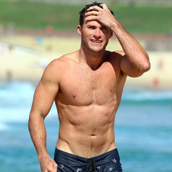 Scott Eastwood Shirtless on the Beach in Australia Feb. 2017
