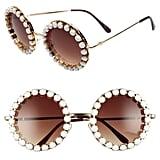 Rad + Refined Rhinestone Round Sunglasses