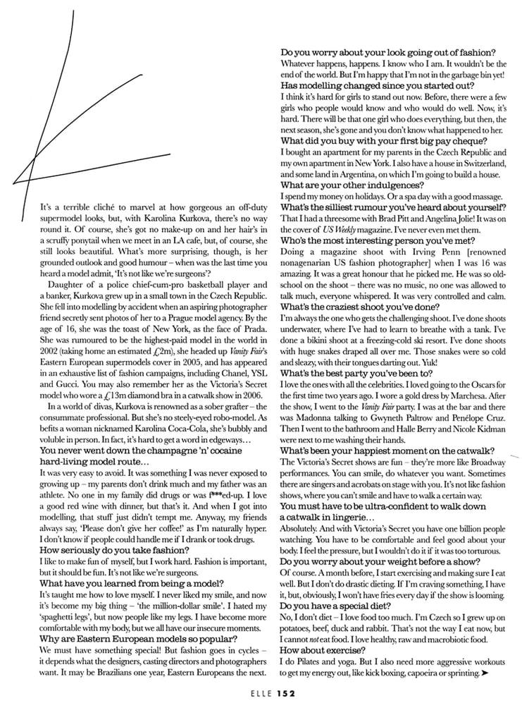 Karolina Kurkova On Life After a $13 Mil Diamond Bra