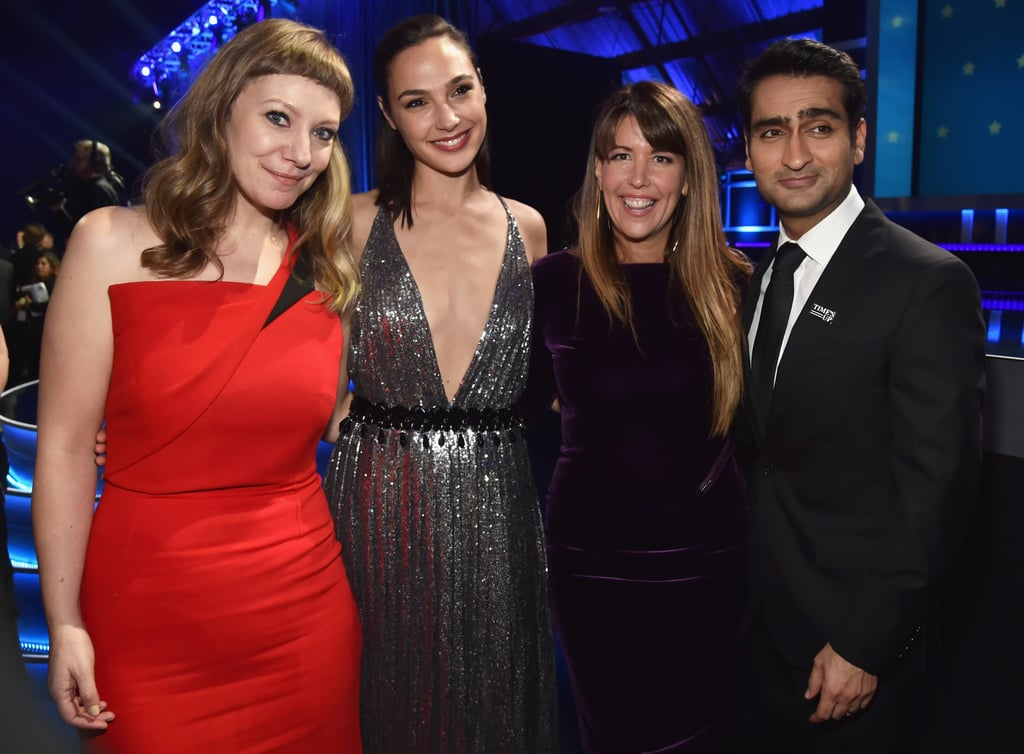 Pictured: Emily V. Gordon, Gal Gadot, Patty Jenkins, and Kumail Nanjiani