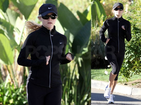 Photos of Reese Witherspoon Jogging With Her Trainer in LA