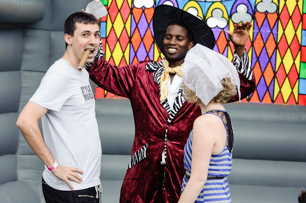 """This couple got """"married"""" at the Catalpa Festival at Randall's Island in New York City."""