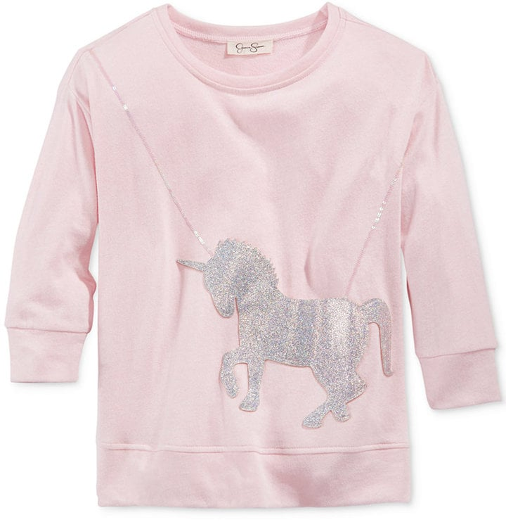 Glitter-Unicorn Purse Sweater