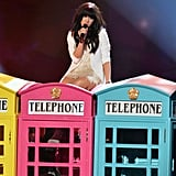 """Carly Rae Jepsen got on top of some phone booths to sing """"Call Me Maybe."""""""