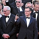 Matt Damon (and a whole lotta suits) premiered Behind The Candelabra in Cannes on May 21. Matt plays the young lover of Liberace, played by Michael Douglas, in the film.