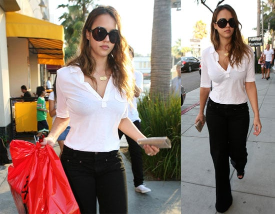 Photos of Jessica Alba Showing Off Her Slim Post Baby Body