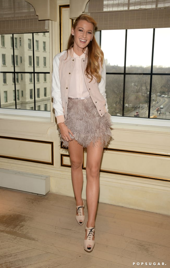 You'd Never Expect Blake Lively to Pair Her Bomber Jacket With This Skirt