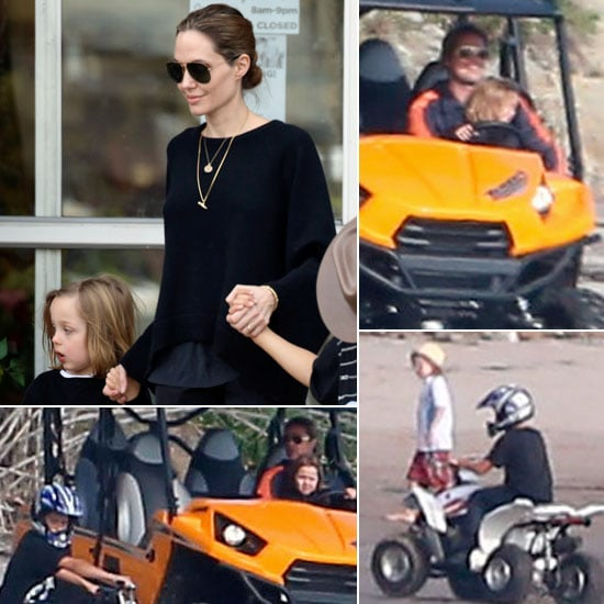 brad pitt and angelina jolie with the kids on easter