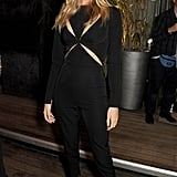 Rosie Huntington-Whiteley kicked off London Fashion Week at the Elle magazine party.