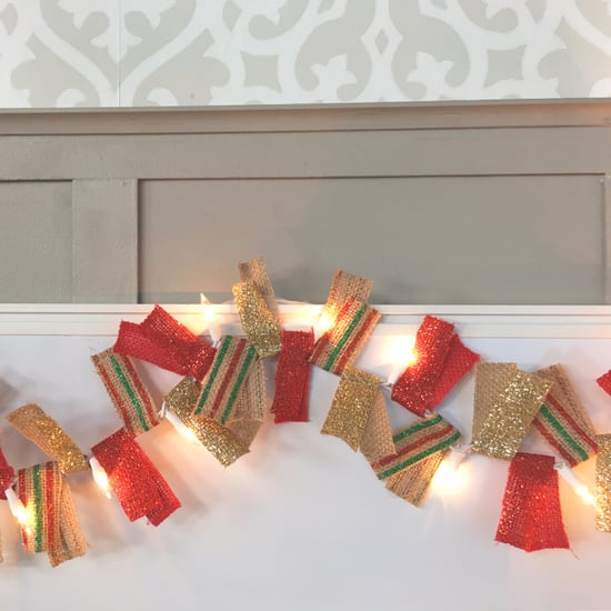 DIY Christmas Light Garland