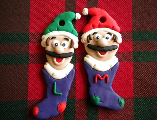Mario and Luigi stocking ornaments ($10)