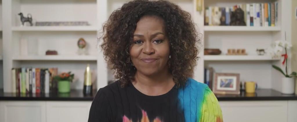 Michelle Obama's Tie-Dye Sweater in PBS Kids Book Reading