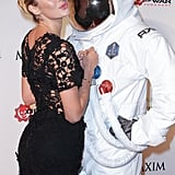 Candice Swanepoel had a pretty interesting date for the Maxim party.