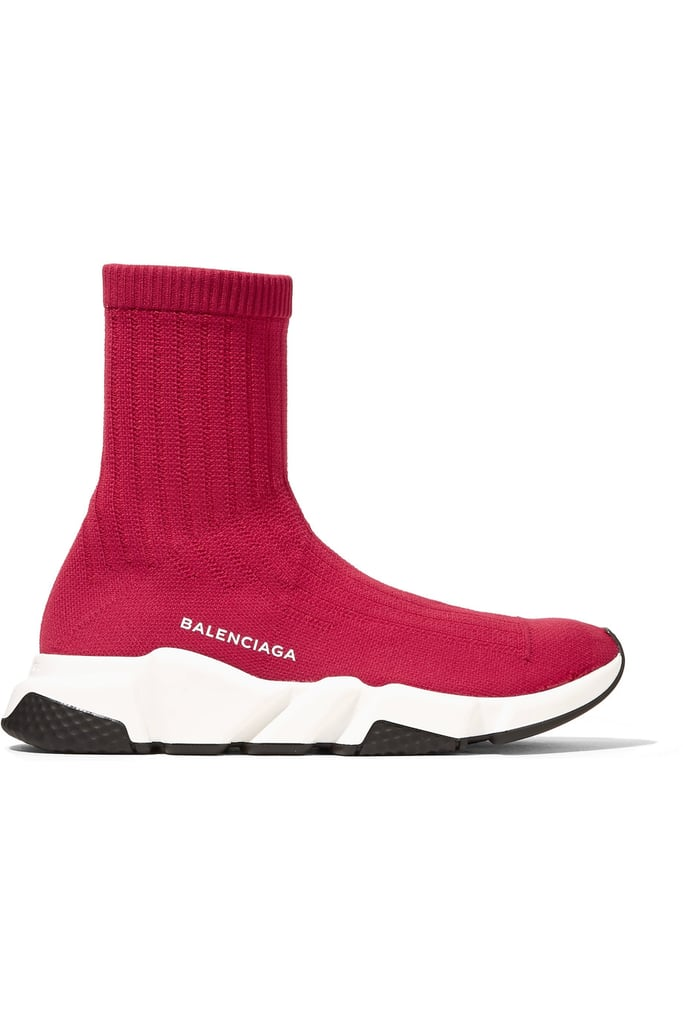 The sporty cousin of the label's popular sock booties, these Balenciaga Speed Stretch-Knit High-Top Sneakers ($595) are a street style essential.
