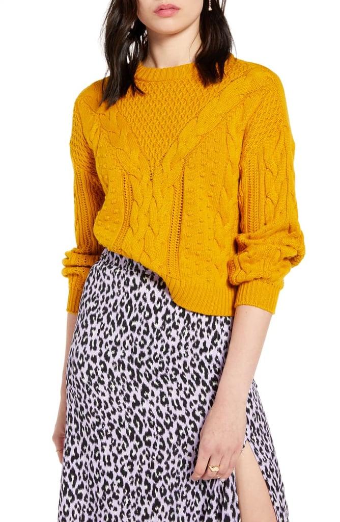 6aa00818dd BP. x Claudia Sulewski Cable Sweater | Claudia Sulewski Nordstrom ...