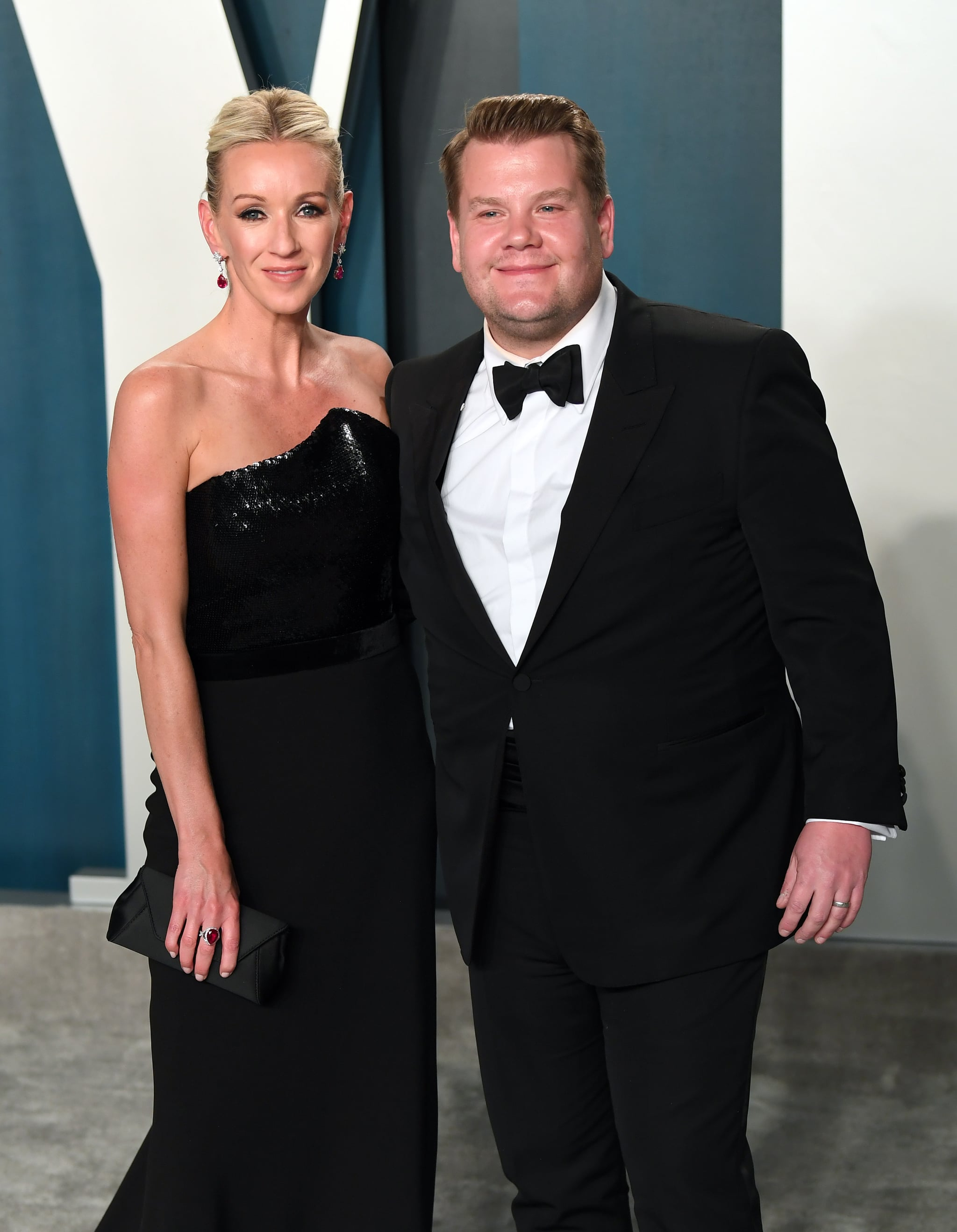 BEVERLY HILLS, CALIFORNIA - FEBRUARY 09: Julia Carey and James Corden attend the 2020 Vanity Fair Oscar Party hosted by Radhika Jones at Wallis Annenberg Centre for the Performing Arts on February 09, 2020 in Beverly Hills, California. (Photo by Karwai Tang/Getty Images)