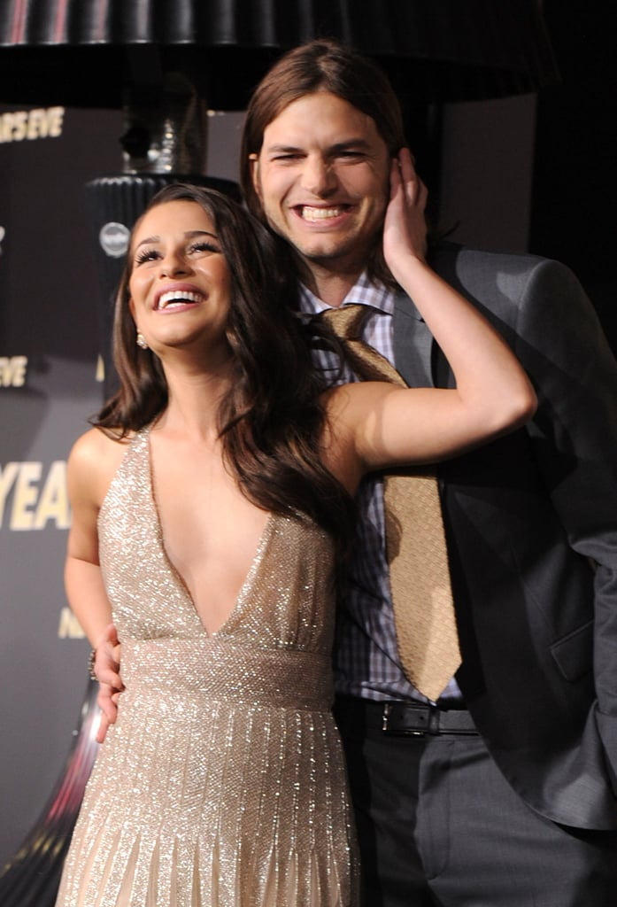 Lea Michele and Ashton Kutcher