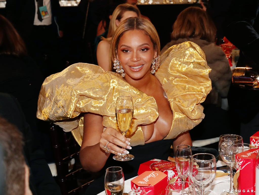 Beyoncé Wore a Puffy-Sleeve Gown to the Golden Globes