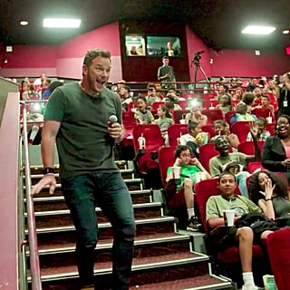 Chris Pratt Surprises Kids at Jurassic World