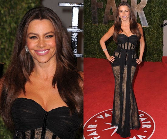 Sofia Vergara in Zuhair Murad at the Vanity Fair Oscars Party 2011