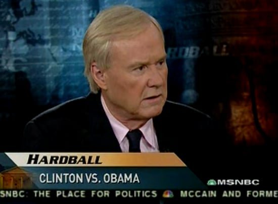 Where I'm Clicking Now: Chris Matthews Foot-in-Mouth Watch