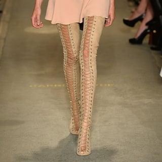 Alex Perry MBFWA Show: Thigh-High Lace-Up Tony Bianco Boots