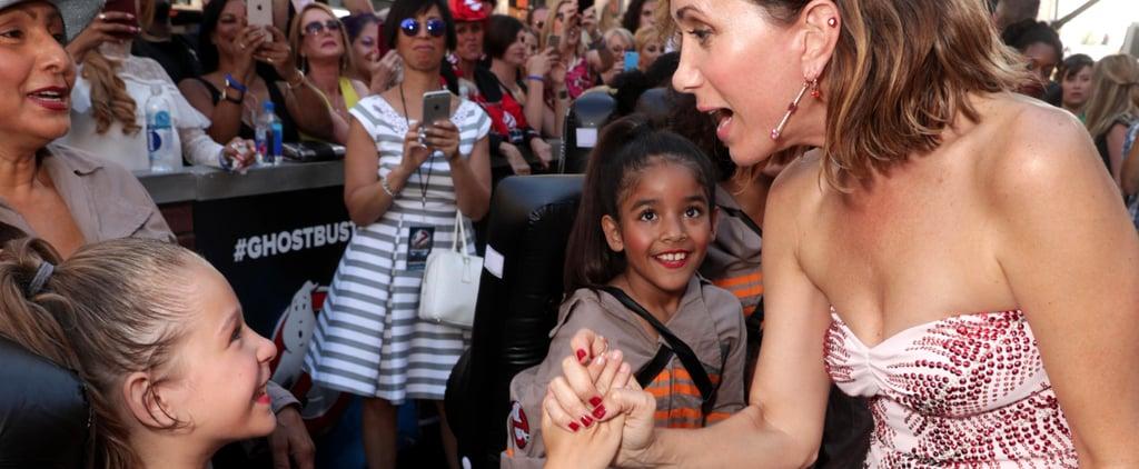 Kristen Wiig Meeting Girls Dressed as Ghostbusters