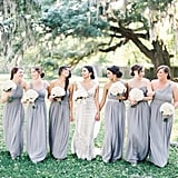 The Bridesmaids Wore Gray, but Each Dress Was Bright in Its Own Way