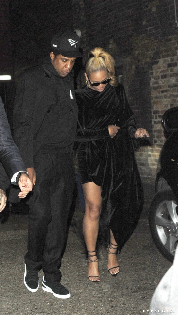 Beyoncé's Black Feather Heels