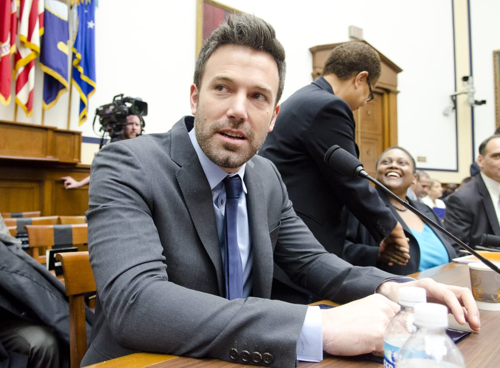 Ben Affleck appeared in Washington DC today to testify in front of the House Armed Services Committee. He later met up with Sen. John Kerry and the Senate Committee on Foreign Relations. Ben's shining his star status on the humanitarian efforts taking place in the Congo and is pushing for increased support from the US in the region. Coincidentally, Ben's name's been swirling in political circles with rumors suggesting he could be among the contenders in the race to fill Senator John Kerry's seat, should it open up in the near future.  Ben's wrapping up a busy year during which he starred in and directed Argo, and we'll soon find out if he can add another Oscar nomination to his résumé when Academy Award nominations are announced Jan. 10. Ben dropped out of Focus with Kristen Stewart, but he's already lining up more projects for the New Year, including the Terrence Malick film To the Wonder — watch the new To the Wonder trailer. First, though, Ben will celebrate a very special holiday season, as he and his family prep to celebrate Samuel's first Christmas.