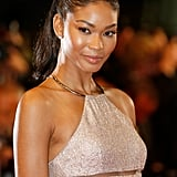 Chanel Iman's flawless skin looked lit from within at the premiere of Hands of Stone.