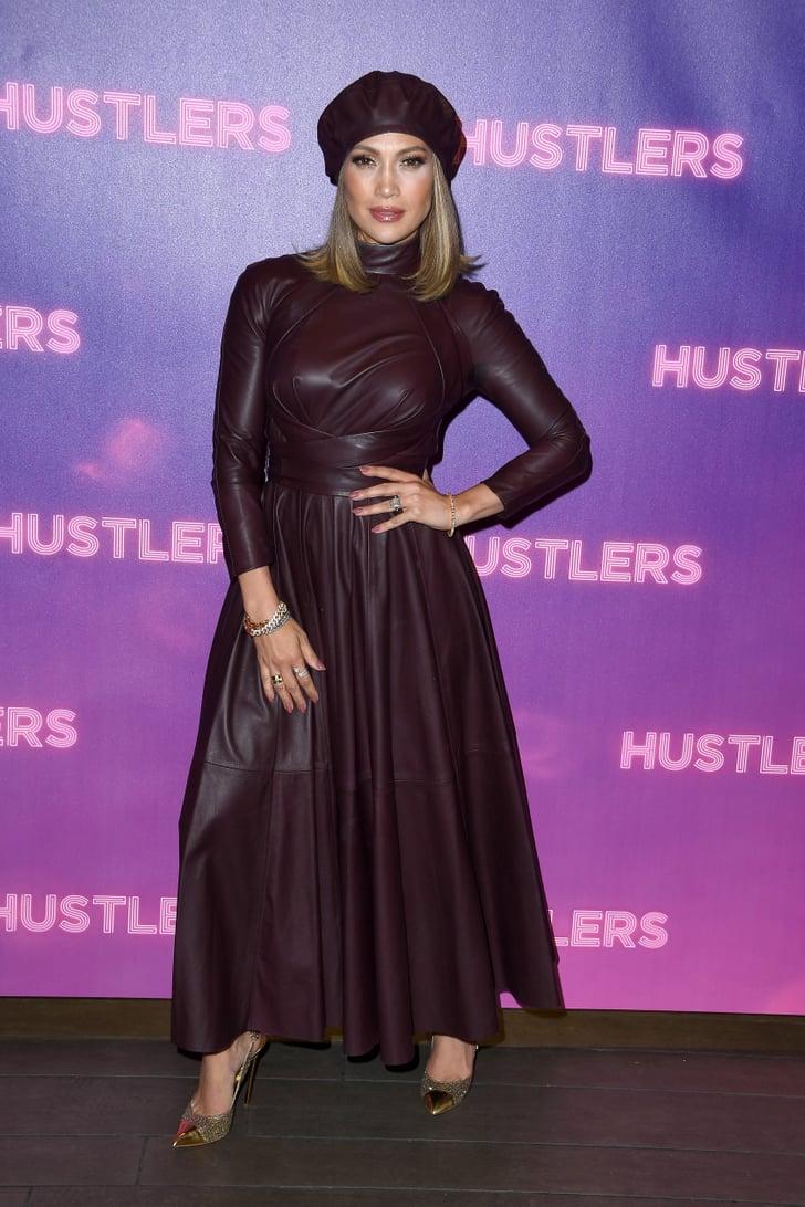Jennifer Lopez S Red Leather Dress And Gold Heels Popsugar Fashion
