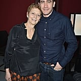 Jake shared a sweet moment with his mom, Naomi Foner, at the Sundance Film Festival in January 2013.