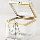 Etched Glass Jewelry Box