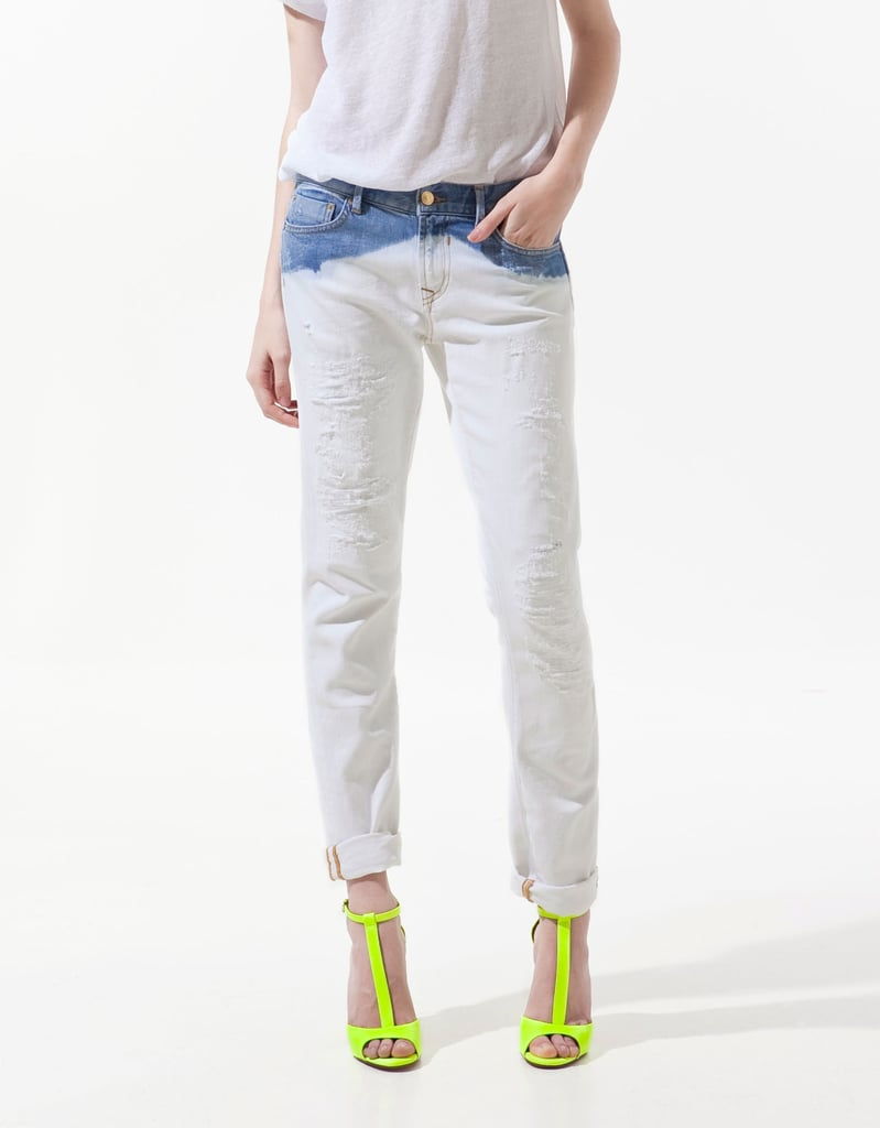 Zara Deep Bleach Wash Straight Leg Denim ($80)