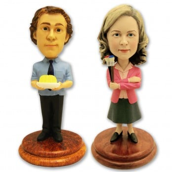 Jim and Pam Together at Last Bobbleheads ($40)