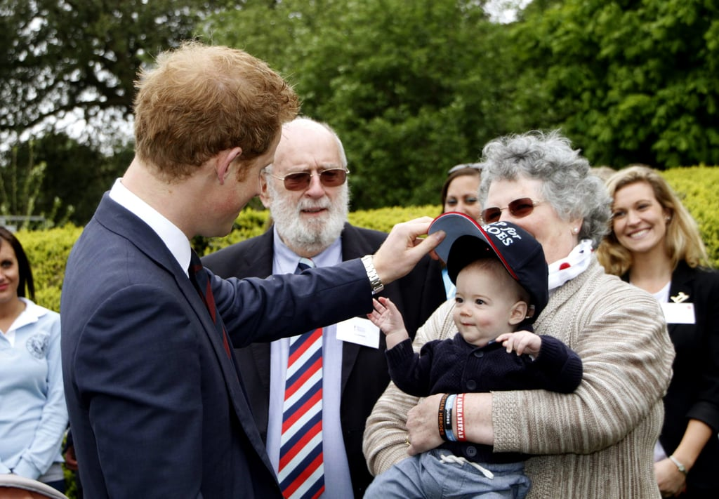 When He Cheered Up an Adorable Baby in England