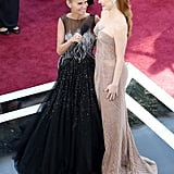 Kristin Chenoweth and Jessica Chastain were cute together on the red carpet.