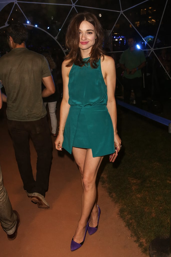 Crystal Reed attended MTV2's Party in the Park as part of Comic-Con on Thursday night.