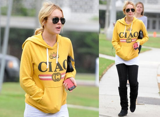 Pictures of Lindsay Lohan Arriving at Court in LA Wearing Sweats 2010-09-07 16:00:00