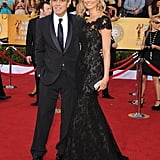 George Clooney and Stacy Keibler Pictures at the SAG Awards