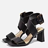 Topshop Natalia Black Cross Sandals