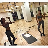 Gym buddies Shanina Shaik and Jasmine Tookes spent Friday night working out together.