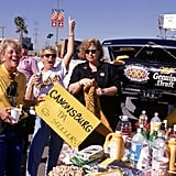 Fans enjoyed a warm Arizona tailgate in 1996.